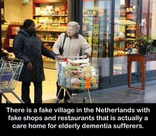 This should really be how every care home for early dementia sufferers. I know my busia would have loved that!