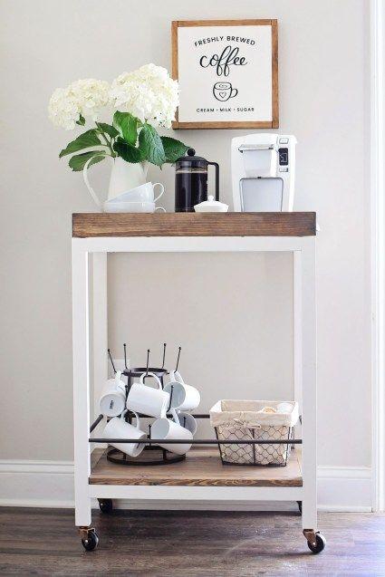 Wonderful Coffee Bar Cart DIY And Styling