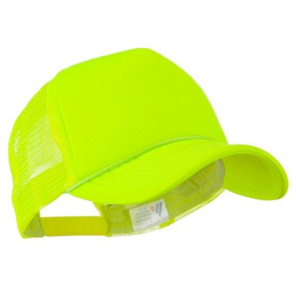 Neon Color Foam Front Summer Trucker Cap Neon Yellow Co11fityiif Neon Yellow Neon Color Trucker Cap