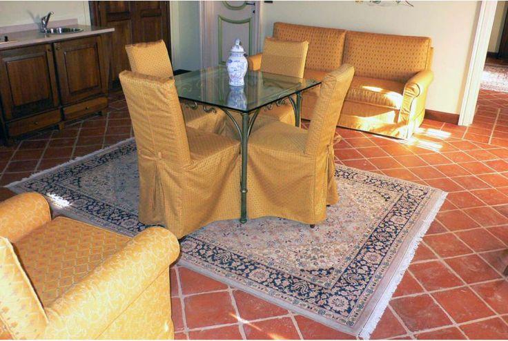 Square terracotta tile 50x50 cm