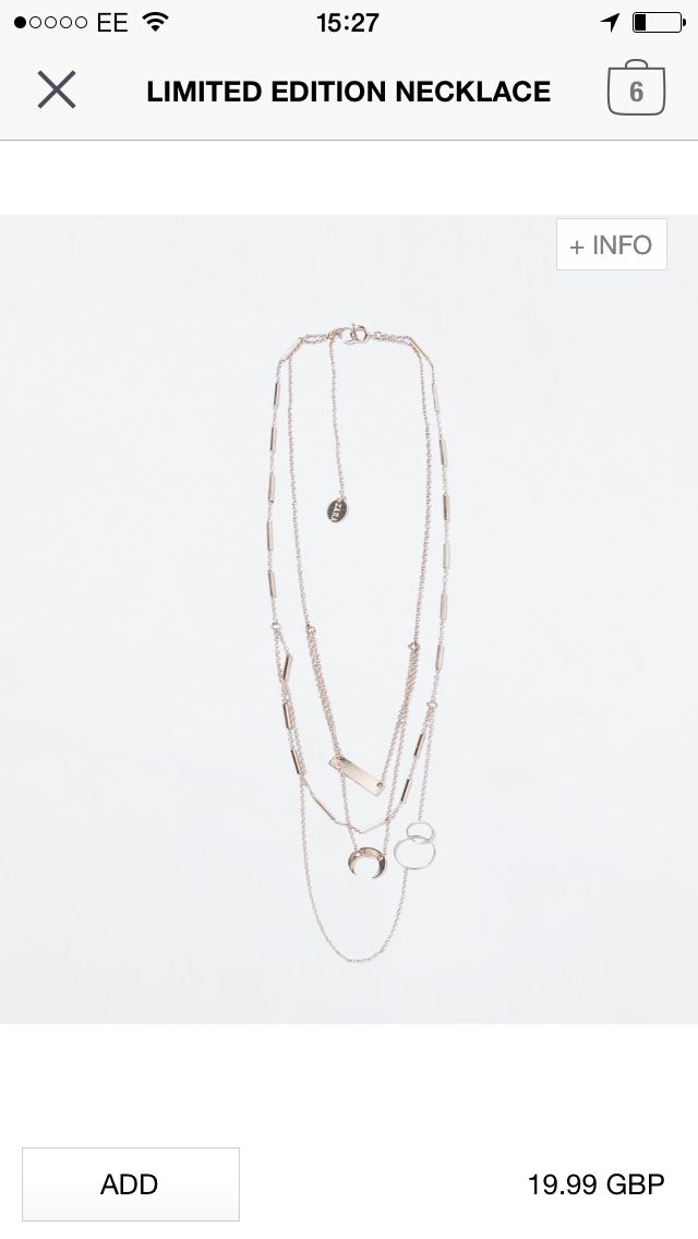Zara necklace - £19.99