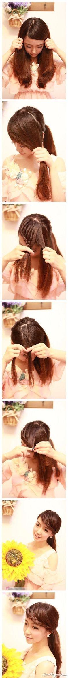 hair style  easy   beauty  hair  fashion beauty   style