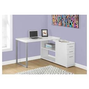 Computer Desk with Facing Corner - White - EveryRoom : Target