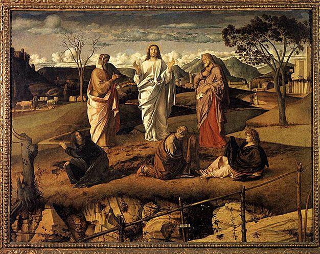 The Transfiguration - Antonello da Messina.  c.1480-85.  Museo Nazionale di Capodimonte, Naples, Italy.
