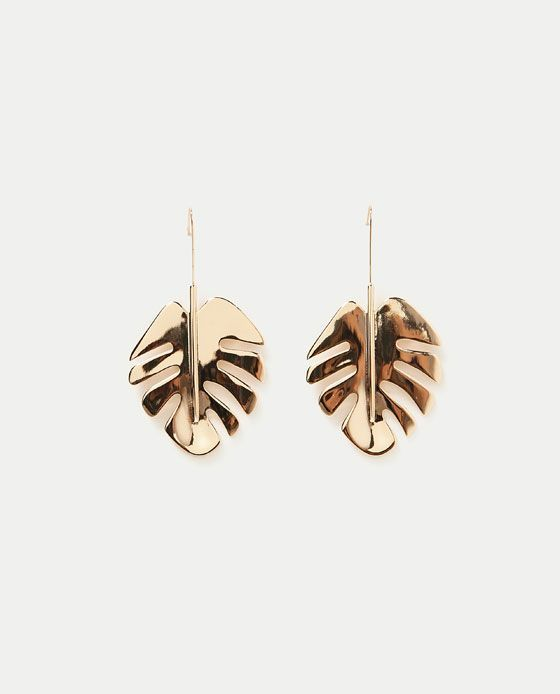 ZARA - WOMAN - LEAVES EARRINGS