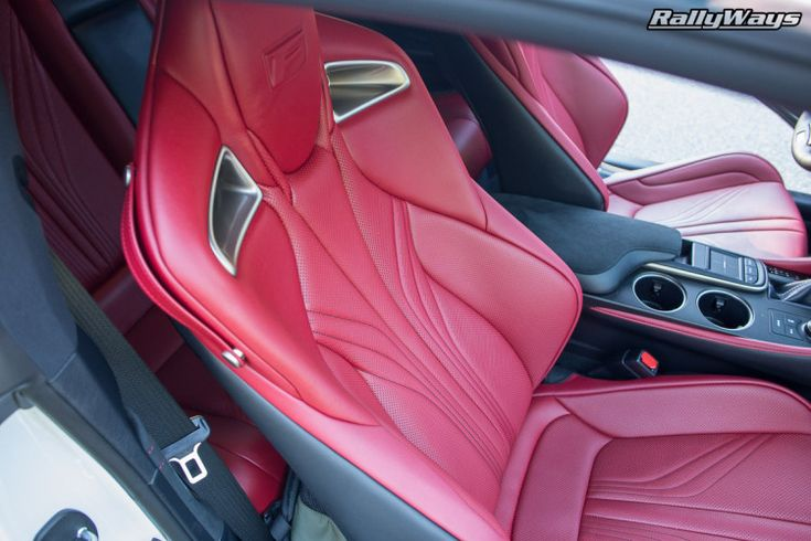 Lexus RCF Red Leather Sport Seats #rcf #lexusrcf #redleather #leatherseats