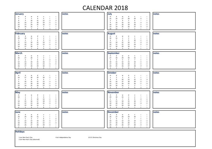 1000 ideas about calendar 2018 on pinterest custom for Usable calendar template