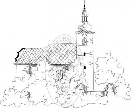 www.atelierdrak.estranky.cz - Fotoalbum - Počítačová grafika H.D. - Podvinky - Třemešná - kostel