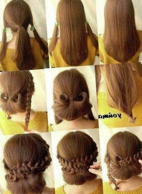 Coiffure facile a faire soi meme pour cheveux mi long