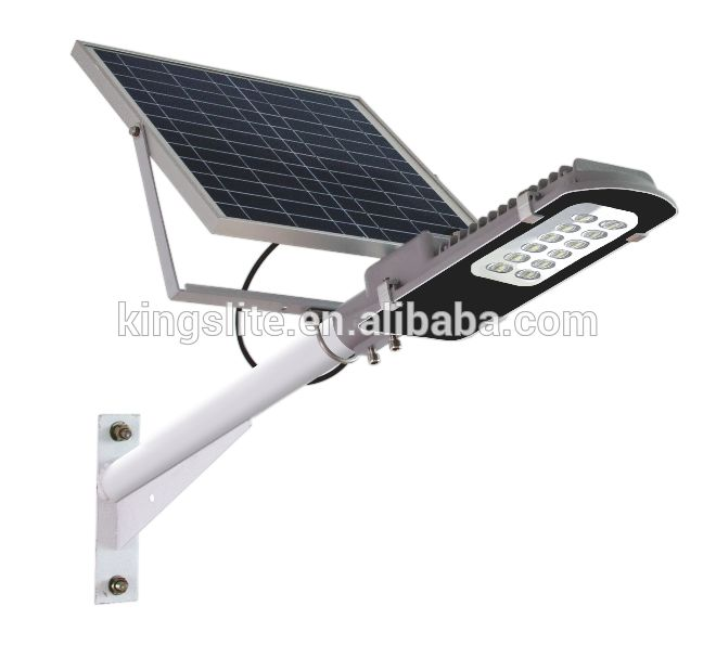High Quality outdoor LED Solar street light with pole passed CE RoHS IP65 Aluminium 100lm/w System ZK7100
