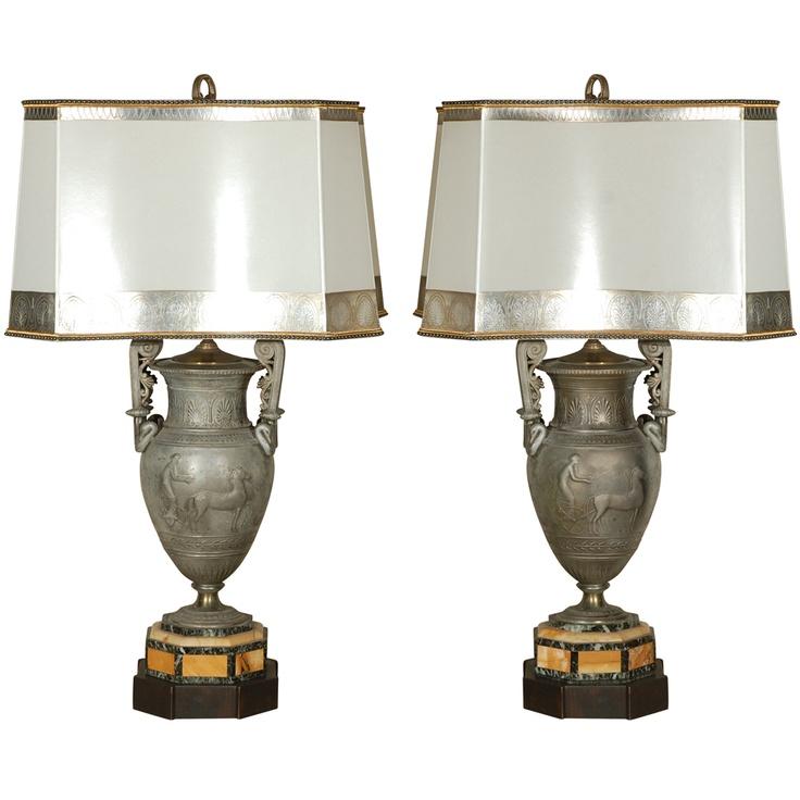 French Antique Lamp Shades Pair Antique Silk Shades