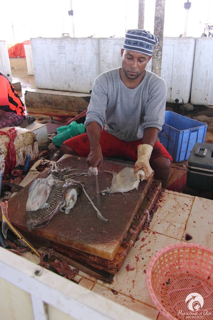 Fish market in Barka, Oman