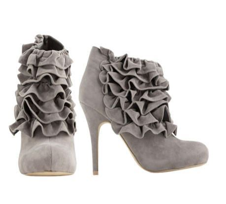 Like the warm grey color of these booties