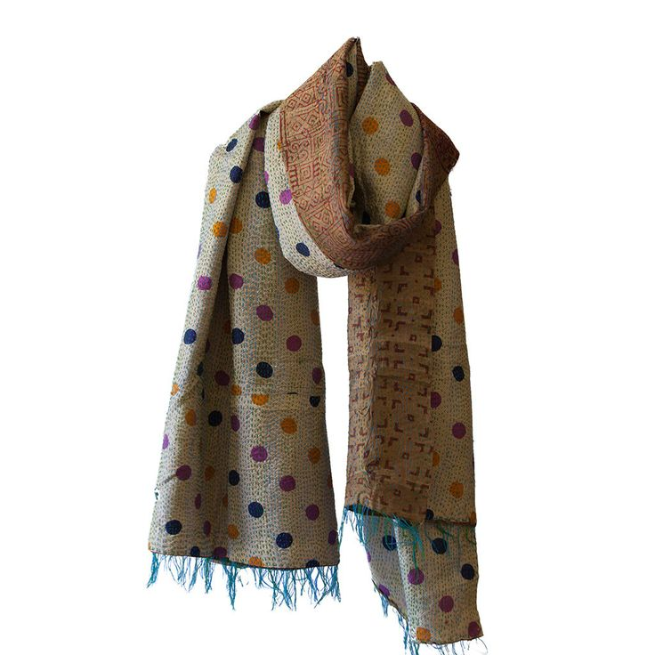 Kantha Silk Scarf 003 | The Hues of India