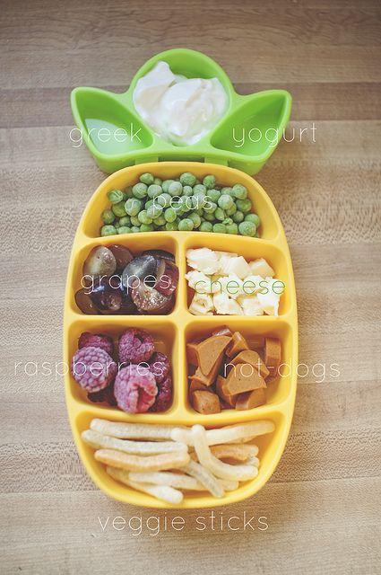 Ada's nibble tray. A new thing we're trying to get this picky toddler to eat!