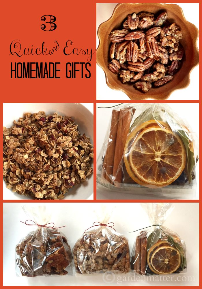 3 quick & easy homemade gifts you can make from grocery store items. Great for a last minute gift. (scheduled via http://www.tailwindapp.com?utm_source=pinterest&utm_medium=twpin&utm_content=post377441&utm_campaign=scheduler_attribution)