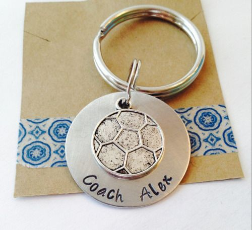 Soccer Coach KeyChain Soccer Coach Gift Personalized KeyChain...