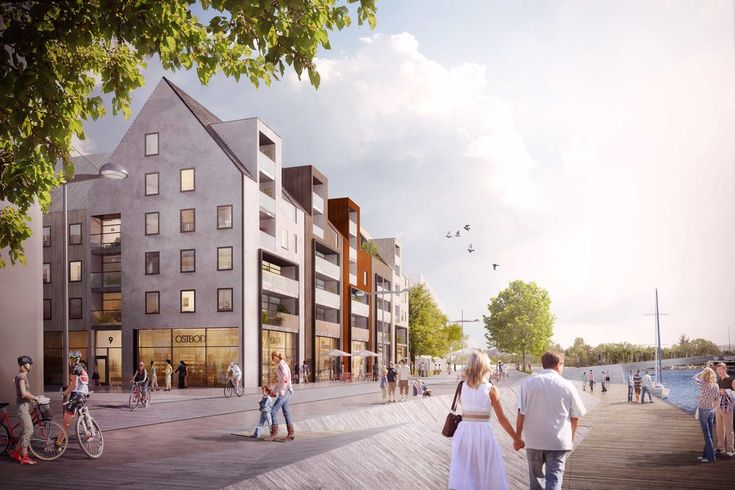 Norrtälje, Stockholm, Vision, architecture, apartments, brick facade