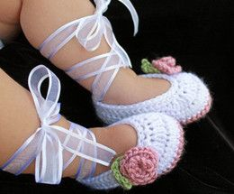 next baby....for the christening outfit...Wholesale Baby Crochet Shoes - Buy Cheap Baby Crochet Shoes from ...