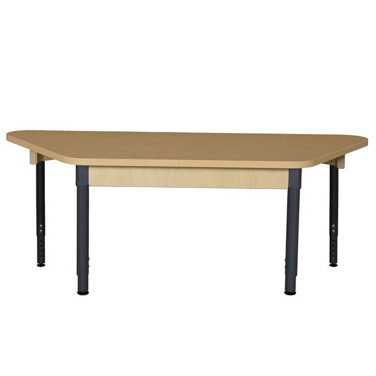 Trapezoidal High Pressure Laminate Table (Adjustable Legs)
