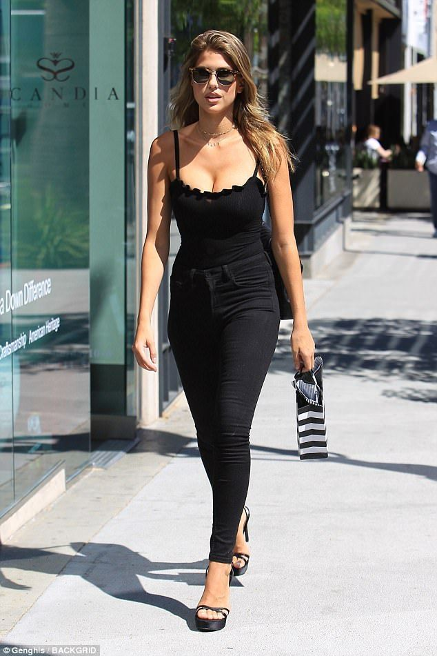 Looking fab! Even on her day off model Kara Del Toro, 25, knows how to steal the spotlight...