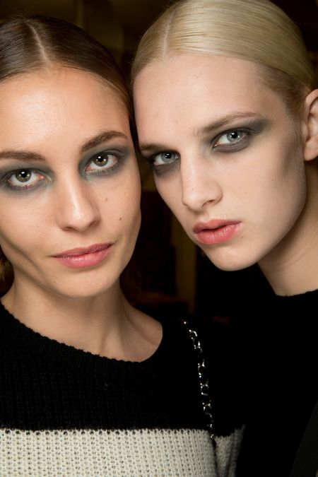 extreme smoky green eye at derek lam fall 2014