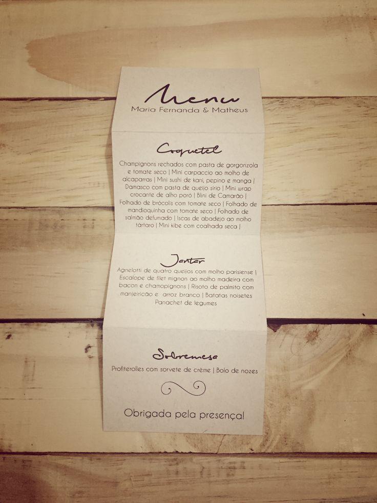 Wedding Menu DIY | Menu de Casamento Sanfona Faça Você Mesmo | http://blogdamariafernanda.com/menu-de-casamento-sanfona