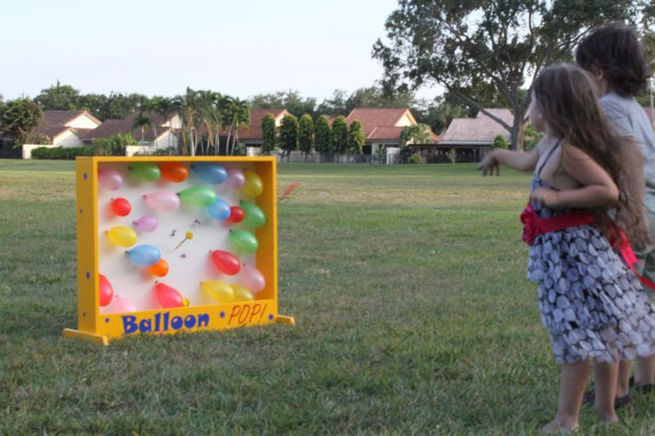 Balloon Pop Carnival Game, Birthday Party Game, Fundraiser Game, Tailgating Game, Lawn Game Outdoor game, School Festival, VBS, Dart Balloon by TravelingElephants on Etsy https://www.etsy.com/listing/280200394/balloon-pop-carnival-game-birthday-party