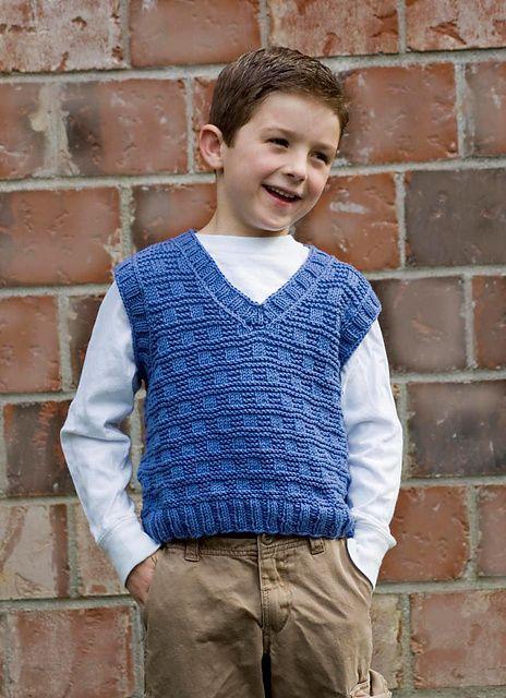 Knitting Patterns Galore - Boy's V-Neck Vest