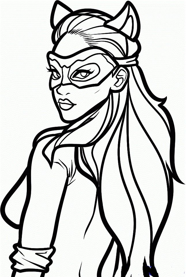 82 best images about superhrdinov on pinterest coloring for Catwoman printable coloring pages