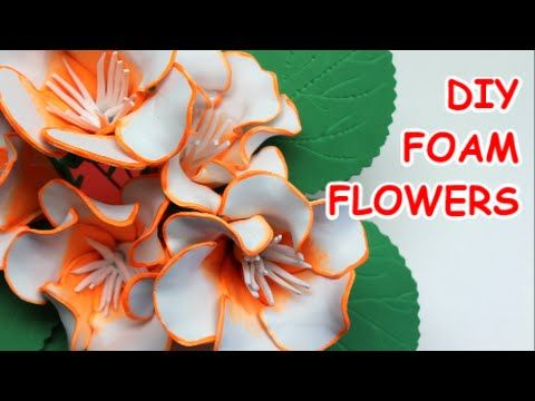 DIY Crafts/Projects: How to Make Flowers Gloxinia |Foam| - Recycled Bott...