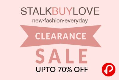 StalkBuyLove #ClearanceSale is offering Upto 70% off on #Women #Dresses, #Top, #Skirts, #Scarves and #Accessories. StalkBuyLove, an online retail company founded by Europe based experts in the fashion industry, provides chic and trendy apparel suited to the tastes of every fashion forward lady at addictive prices. At StalkBuyLove ...  http://www.paisebachaoindia.com/stalkbuylove-clearance-sale-upto-70-off-on-women-dresses-top-stalkbuylove/