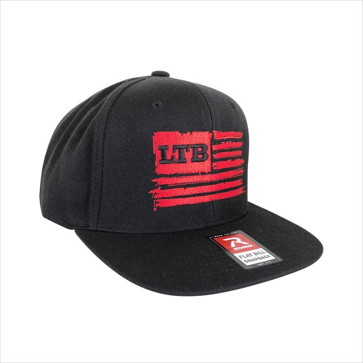 """Our signature LTB Flag logo embroidered on a high quality Richardson 510 snapback cap. The 510 Snapback Adjustable Hat by Richardson features ProWool fabric; taller ProCrown shape with buckram fused front panels; 1 3/8"""" ProSweatband with twill face; Flat visor. Looks great on out on the water or just wearing around town!"""