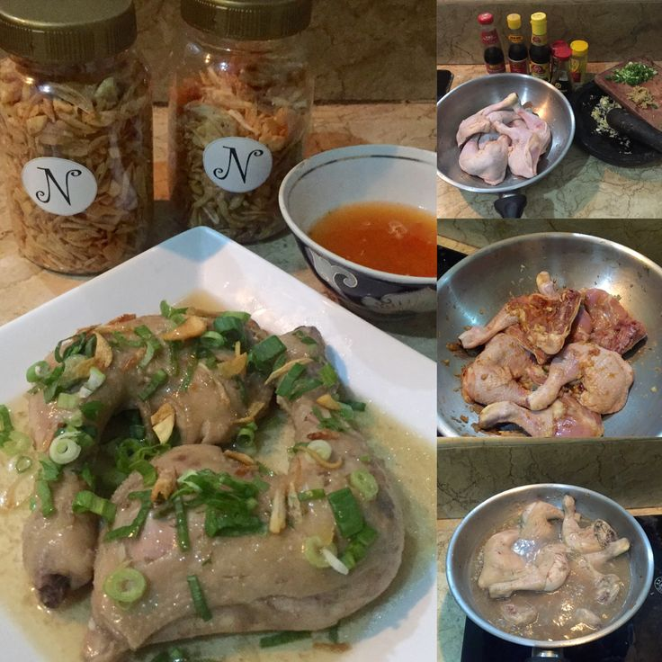 Today i try to make chicken hainan but i give too much kikkoman in it so the color become a bit dark