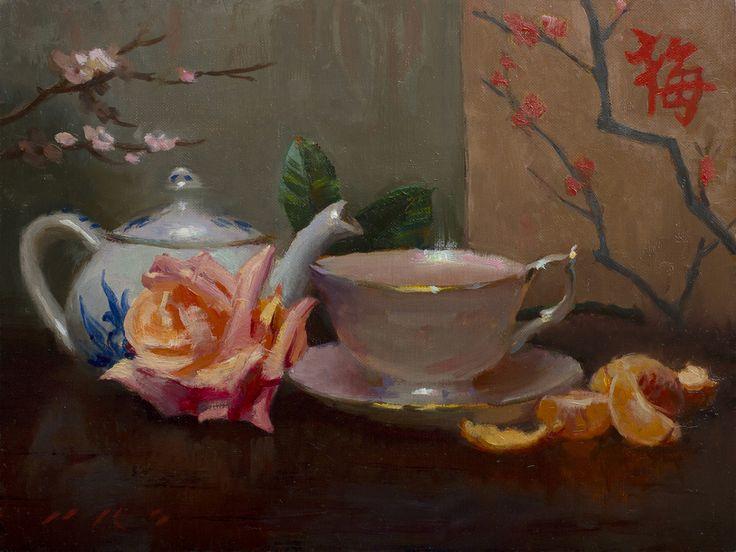 "www.artshopnc.com  Tony Pro - Artist ""Tea and Tangerines"""