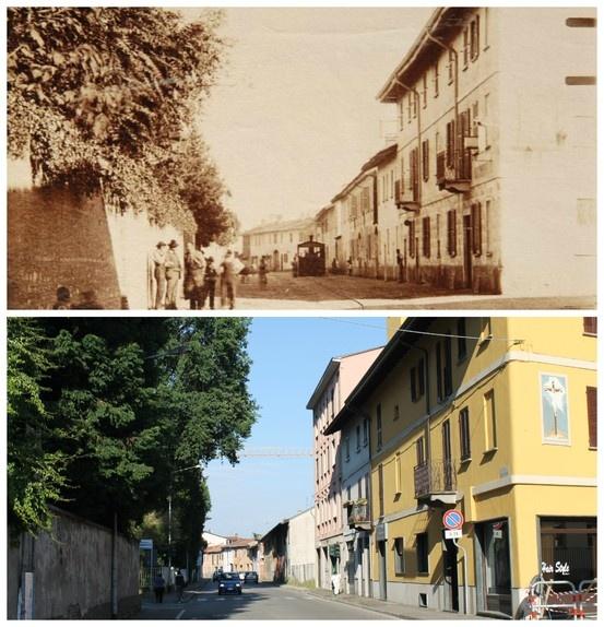 Cuggiono: Piazza S. Maurizio - Via Garibaldi e il Gamba de Legn (45°30'20.12''N 8°49'10.05''E 45.505589,8.819457)