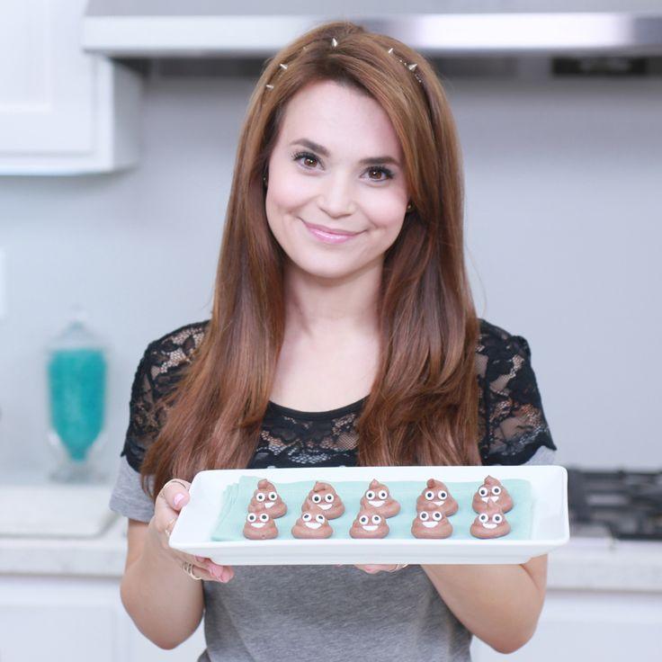 Loved making these Poo Emoji Meringue Cookies on Nerdy Nummies!