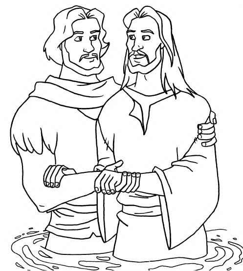 baptism of jesus coloring pages