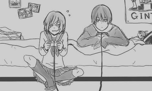 Boy And Girl Playing Video Games Tumblrkawaii Anime Qvnlnpr