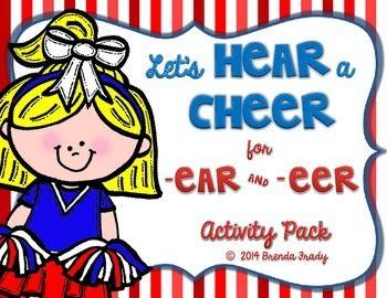 Ear Eer Word Work Phonics Activity Packs