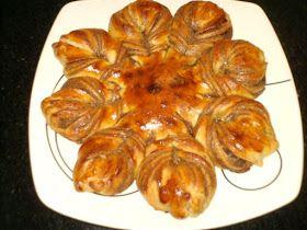 FLOR DE NUTELLA Ingredientes: 1 receta --------------------- masa brioche Cantidad necesaria -----pasta de avellana (nutela) 1--------------------...
