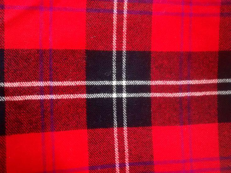 VINTAGE TARTAN FABRIC - Ramsay Red Modern - Heavy Weight - 100% wool by Puddledub on Etsy
