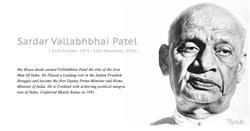 Sardar Vallabhbhai Patel Face Closeup With Quote HD Wallpaper,Sardar Vallabhbhai Patel Image,Indian Leader Image,Iron Men Of India Sardar Patel Image