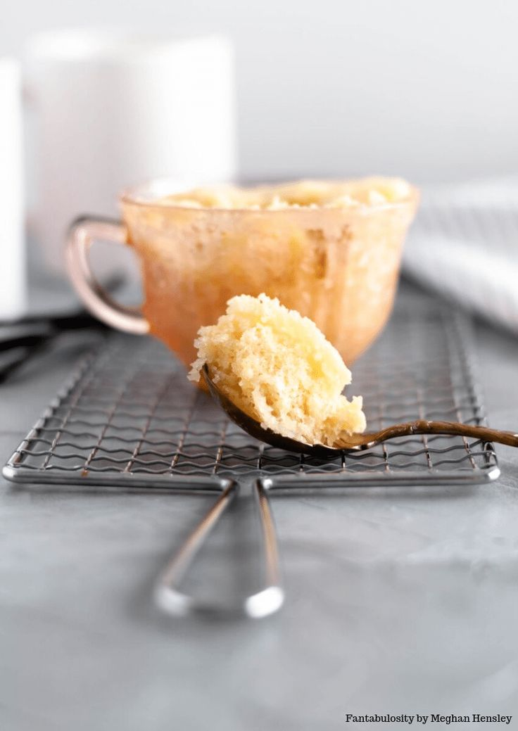 This easy vanilla mug cake is made in the microwave and is ...