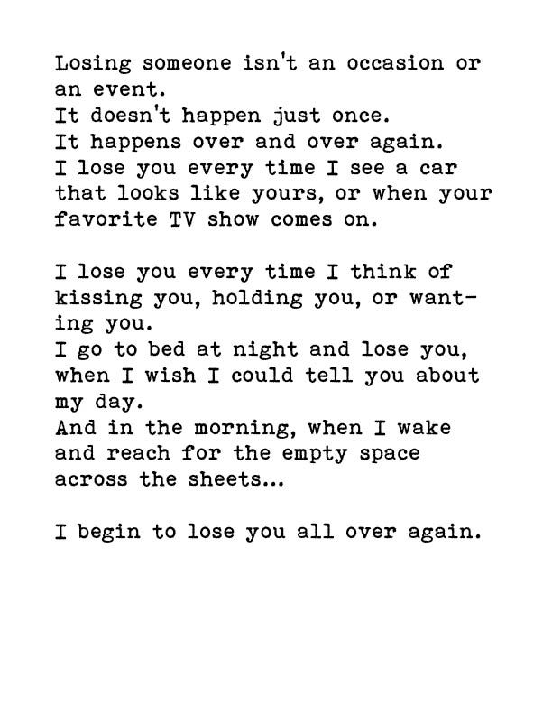Oh...that hurts. This is my last breakup quote for tonight. I've lost him enough for one day.