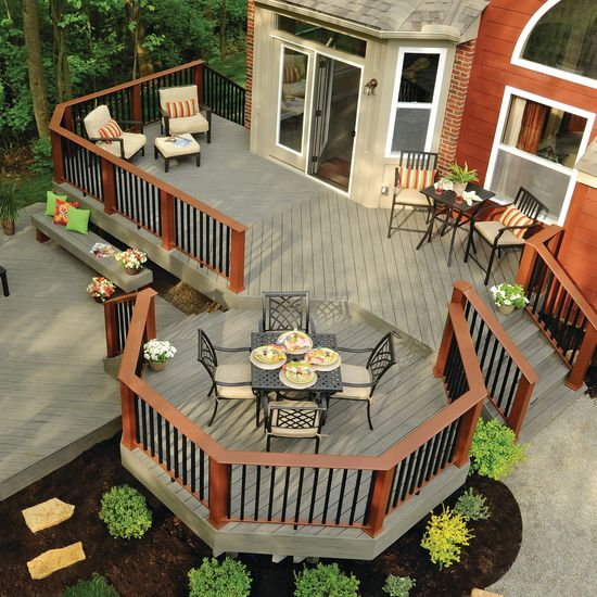 Best 25 wood deck designs ideas on pinterest decks for Exterior deck design