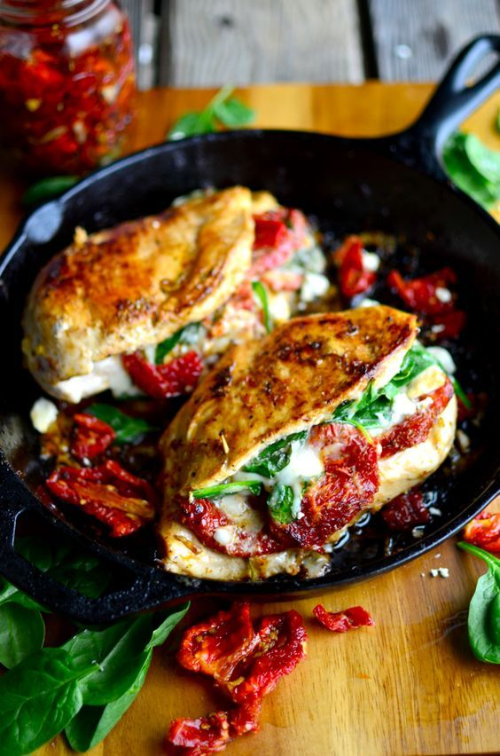 Yammie's Noshery: Sun Dried Tomato, Spinach, and Cheese Stuffed Chicken