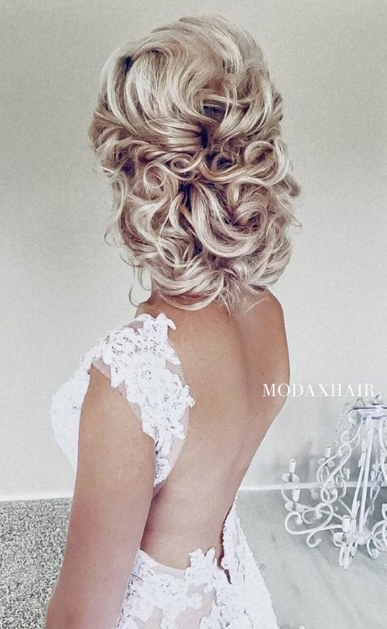 Best 25 curly wedding updo ideas on pinterest southern wedding updo hairstyle idea 4 via ulyana aster pmusecretfo Images