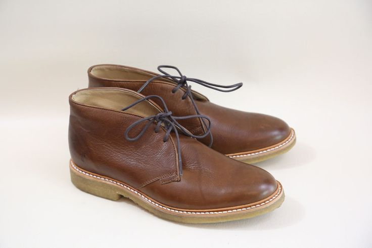 #21 FRYE Brown Chukka Boots Size 8  made in mexico  #Frye #AnkleBoots