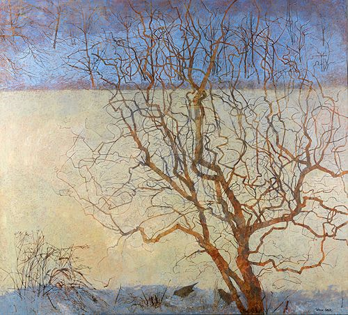 "Numinous Garden - Victoria Crowe media : oil on linen dimensions : 45"" x 50"""